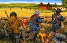 Boer Commandos in battle, Boer War