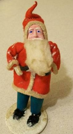 Antique Spun Cotton and Chenille Santa Claus Christmas Ornament Made in Japan | eBay