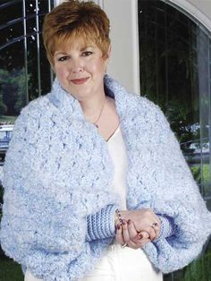 Crochet - Accessories - Crochet Shrugs, Wraps & Shawls Patterns - Cozy Shrug - #FC01241
