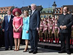 4/13/2016 King Willem-Alexander and  Queen Maxima of The Netherlands are currently in Bavaria, Germanyfor a two day official visit