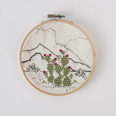 Desert Cactus Cross Stitch