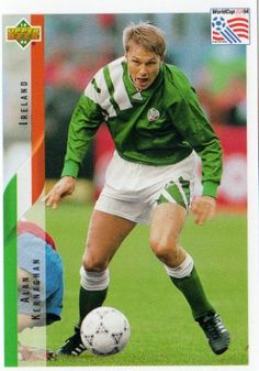 Andy Kernaghan of Republic of Ireland. 1994 World Cup Finals card.