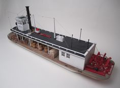 sternwheeler steamboat slide show Wooden Boat Kits, Wooden Boats, Toy Steam Engine, Scale Model Ships, Steam Boats, Online Modeling, Boat Projects, Paddle Boat, Boat Building
