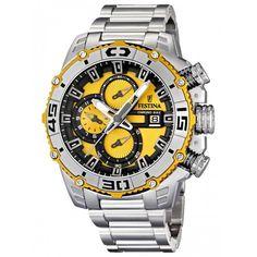 74dcf9e9a56d Festina Men s Tour de France F16599 5 Silver Stainless-Steel Quartz Watch  Montre Festina