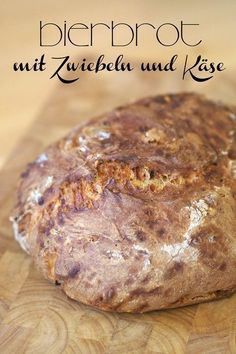 "Ein Bier in der Not ist ein ganzer Laib Brot Beer bread with onions and cheese – ""Fairy is my name"" – Bread Cast, Bread Bun, Savoury Baking, Bread Baking, German Bread, Onion Bread, Beer Bread, Bread Pizza, Cheese Bread"
