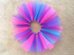 Pink blue purple tutu birthday tutu summer tutu by LBbowtique1, $20.00