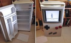 This Guy Turned His Dorm Room Fridge Into an Over-Sized Playable Game Boy