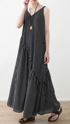 Women black striped chiffon clothes Boho Outfits Spaghetti Strap asymmetric Robe Summer Dresses Платье в полоску The post Women black striped chiffon clothes Boho Outfits Spaghetti Strap asymmetric Robe Summer Dresses appeared first on Summer Ideas. Boho Outfits, Casual Outfits, Summer Outfits, Boho Womens Clothing, Womens Fashion, Fashion 2018, Casual Dresses, Fashion Dresses, Maxi Dresses