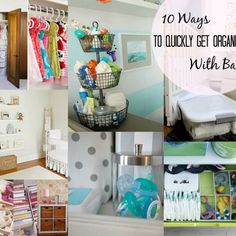 10 Ways To Quickly Get Organized With Baby - already do the paci storage but love the diaper drawer!