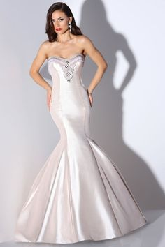 """Cristiano Lucci front view style """"lana"""" 12880  SWEETHEART NECKLINE WITH INTRICATE BEADING, FIT AND FLARE SKIRT"""
