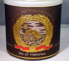 RARE McClelland's No. 27 Virginia Tin, 1998, New, Sealed, Unopened (2197) | Visit estatebriarpipes.com and view our estate pipes and collectible vintage tins.