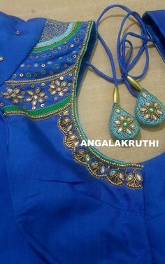 Hand embroidery by Angalakruthi-Bangalore  Angalakruthi Ladies and kids boutique in Bangalore