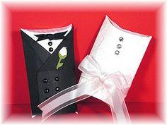 Stampin' Up!  Pillow Box Bride and Groom  Regina Cornelius  Wedding Favor