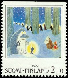Tove Jansson, Postage Stamp Art, Museum Exhibition, Christmas Images, Stamp Collecting, Fairy Tales, Art Pieces, Sketches, Illustration
