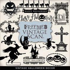 Far Far Hill: Freebies Kit of Vintage Halloween Decor