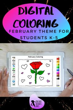 Are you looking for something inspirational that will support your students with their mental well-being that can be completed online with no resources required whatsoever? Then look no further than these brand new style of Online Digital Colouring Page Decks: February theme for young children, ideal for Valentine's Day! Images include: hearts, gift, friends and a rose, ideal for February or Valentine's Day! #digitalcoloring #coloronline #valentinescoloring Secondary Teacher, Secondary School, Quote Coloring Pages, Colouring Pages, February Colors, Mindfulness Colouring, Mice Control, Arts Integration, Time Activities