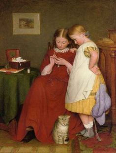 The Crochet Lesson by Edward Thompson Davis by Divonsir Borges