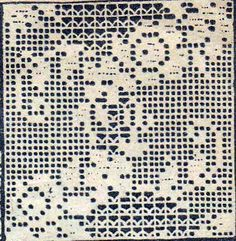 PDF Filet Crochet Motif Square Flower Floral Pattern for Bedspreads Cl