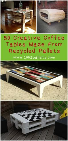 One of the most active categories in 1001Pallets is certainly the coffee table one. We received & still continue to receive a lot of coffee tables ideas made from repurposed pallets, from the simple ones to the more complex and…