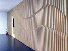 Dynamic 3D wall graphic.  {Kring. Timber Graphic.}