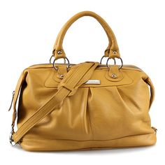 Leather satchel Valenti large ochre - handmade Leather bag Messenger Diaper bag Shoulder bag Tote Handbag Hip bag Women