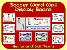 Flag football word wall display skill graphics game terms soccer word wall display skill graphics game terms publicscrutiny Image collections