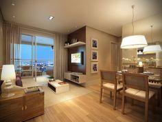 Os apartamentos de 67 m² têm dois quartos, sendo uma suíte com closet.
