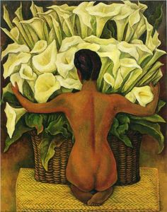 'Nude with Calla Lilies' - by Diego Rivera