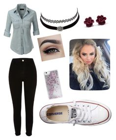 """""""Untitled #20"""" by jaysen-martin on Polyvore featuring LE3NO, Converse, Skinnydip and Charlotte Russe"""