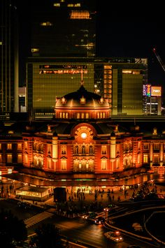 Tokyo Station, Japan -- I can't believe I can say I've been here along with the multiple other places in Japan. Places Around The World, Around The Worlds, Tokyo Station, Japanese Landscape, Scenery Photography, Visit Japan, Japanese Culture, Tokyo Japan, City Lights