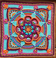 Transcendent Crochet a Solid Granny Square Ideas. Inconceivable Crochet a Solid Granny Square Ideas. Crochet Mandala Pattern, Granny Square Crochet Pattern, Crochet Blocks, Crochet Squares, Crochet Blanket Patterns, Crochet Granny, Crochet Yarn, Crochet Stitches, Knitting Patterns
