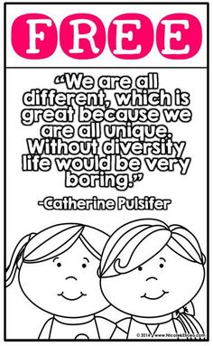 Great for diverse classrooms! Kindergarten Classroom Management, Elementary Counseling, School Counselor, Elementary Schools, Color Posters, Quote Posters, Teaching Tools, Teaching Kids, Harmony Day