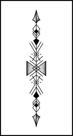 Discover recipes, home ideas, style inspiration and other ideas to try. Geometric Tattoos Men, Geometric Tattoo Design, Tribal Tattoos, Geometric Arrow Tattoo, Simbolos Tattoo, Band Tattoo, Tattoo Drawings, Mini Tattoos, Body Art Tattoos