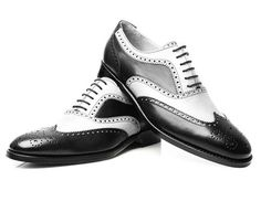 New Handmade Luxury Men's Shoes Good Year Welted Tuxedo Brogue leather Shoes - Dress/Formal