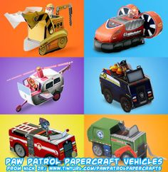Ninjatoes' papercraft weblog: Nick Jr. papercraft PAW Patrol vehicles