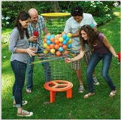Have you ever played Jenga or Ker-Plunk?  Now you can build this life size Shiskaball game for ourside and the whole family can play. ~ Vanessa    http://www.thisoldhouse.com/toh/photos/0,,20506195_20982761,00.html