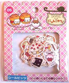 San-x Nyan Nyanko Cafe sticker sack