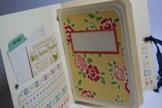 Melissa from Bursts of Creativity has a tutorial on creating an album using three office file folders.