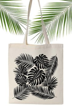 Tropical tote bag illustration ANJESYdesign par ANJESYdesign