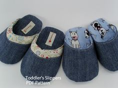 I think sew: Dani Baby & Toddler's Slipper Sewing Hacks, Sewing Tips, Baby Slippers, Doll Shoes, Sewing For Kids, My Girl, Sewing Patterns, Baby Shoes, Pdf