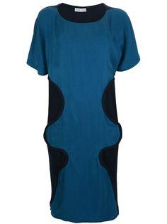 TSUMORI CHISATO Patterned Bi-Colour Dress