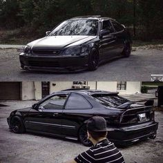 See more about Honda Civic, Taking Pictures and All Black. Honda Civic Coupe, Honda Civic 2003, Civic Jdm, Honda Crx, Civic Sedan, Honda Civic Hatchback, Civic Tuning, Carros Honda, Tuner Cars