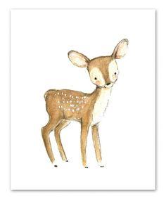 trafalgars square Bunny & More Woodsie Four-Piece Print Set   zulily