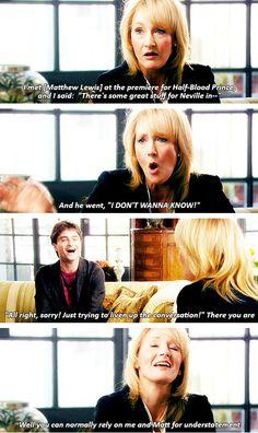 Daniel Radcliffe & JK Rowling