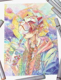 Anime Art, Colorful Art, Character Art, Cute Art, Illustration Art, Anime Artwork, Art Inspiration, Boy Art, Anime Drawings