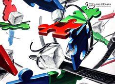 ★유튜브로 입시미술 배우기★ ♣그림을 클릭해 주세요!!!!♣ #기초디자인#디자인고흐#건국대#watercolor#drawing#개체표현#질감표현 #재현작#합격작#퍼즐#각설탕#케이블타이