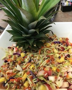 Rochester Community CHIP 15. Broccoli pineapple & peach slaw. #lifestylemedicine #plantbased