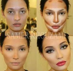 Highlights and contouring The only reason why movie stars look better than us.