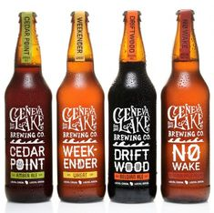 Geneva Lake Brewing Co. packaging designed by Alchemy Ltd.