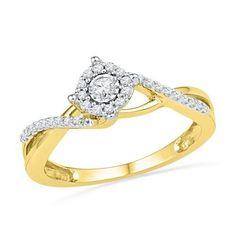 10K Yellow-gold 0.20CTW DIAMOND FASHION RING